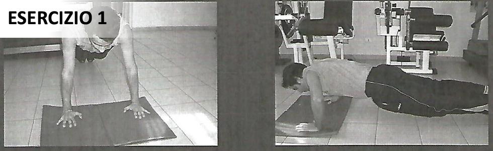 Esercizio di postura e stabilità spalla