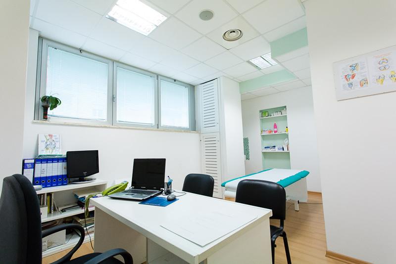 Sala per fisioterapia e manipolazioni fasciali